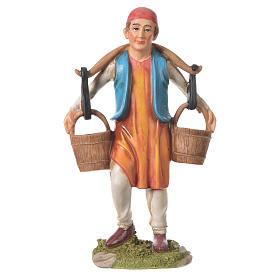 Nativity Scene figurines: Nativity figurine, man with water buckets, 30cm resin