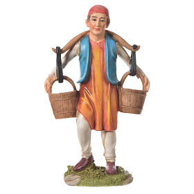 Nativity figurine, man with water buckets, 30cm resin s1