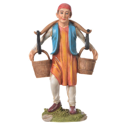 Nativity figurine, man with water buckets, 30cm resin 1