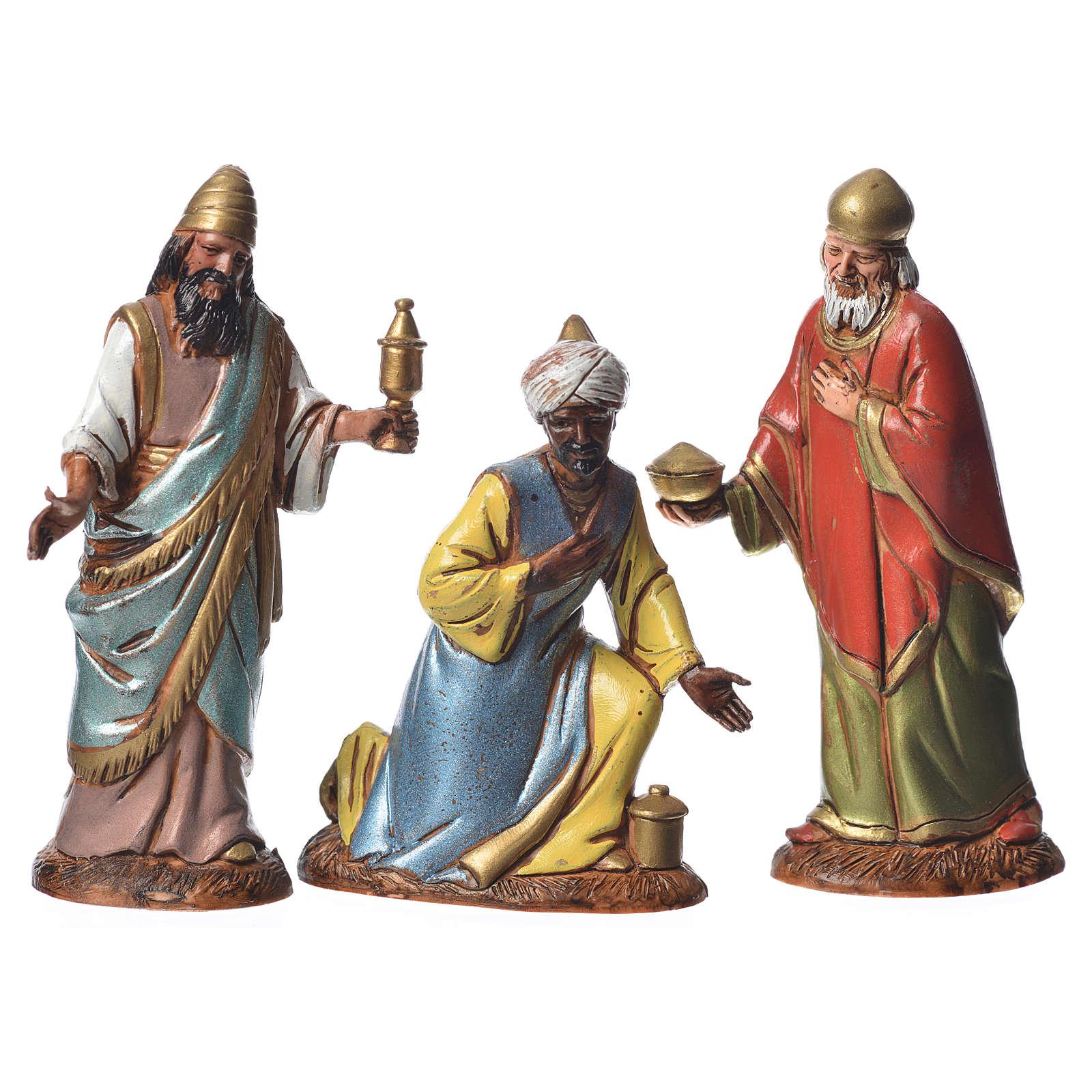 Reyes Magos con costumbres históricos, 3 pdz, para belén de Moranduzzo con estatuas de 10 cm 4