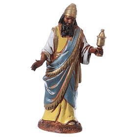 Reyes Magos con costumbres históricos, 3 pdz, para belén de Moranduzzo con estatuas de 10 cm s4