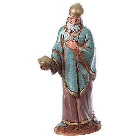 Reyes Magos con costumbres históricos, 3 pdz, para belén de Moranduzzo con estatuas de 10 cm s5