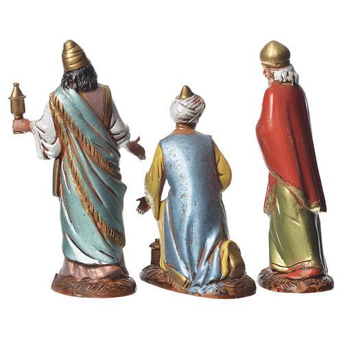 Reyes Magos con costumbres históricos, 3 pdz, para belén de Moranduzzo con estatuas de 10 cm 2