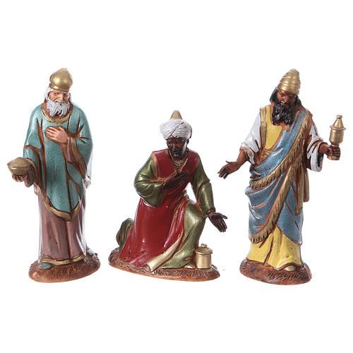Reyes Magos con costumbres históricos, 3 pdz, para belén de Moranduzzo con estatuas de 10 cm 3