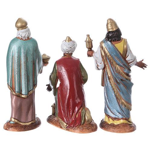 Reyes Magos con costumbres históricos, 3 pdz, para belén de Moranduzzo con estatuas de 10 cm 7