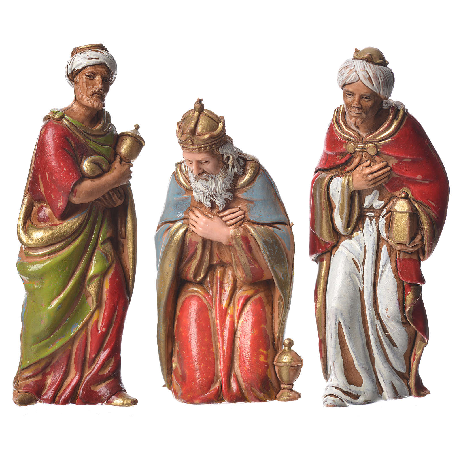 Reyes Magos, 3 pdz, para belén de Moranduzzo con estatuas de 8 cm 4