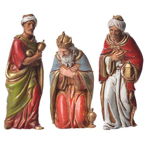Reis Magos 3 peças para presépio Moranduzzo com figuras de altura média 8 cm 1