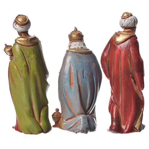 Reis Magos 3 peças para presépio Moranduzzo com figuras de altura média 8 cm 2