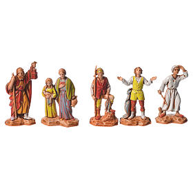 Nativity Scene shepherds and camel by Moranduzzo 3.5cm, 22 pieces s4