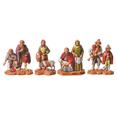 Nativity Scene shepherds and camel by Moranduzzo 3.5cm, 22 pieces 3
