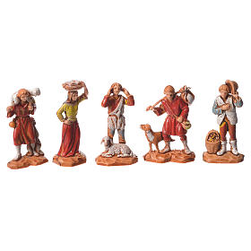 Pastores y camello, 22 pdz, para belén de Moranduzzo con estatuas de 3,5 cm s2