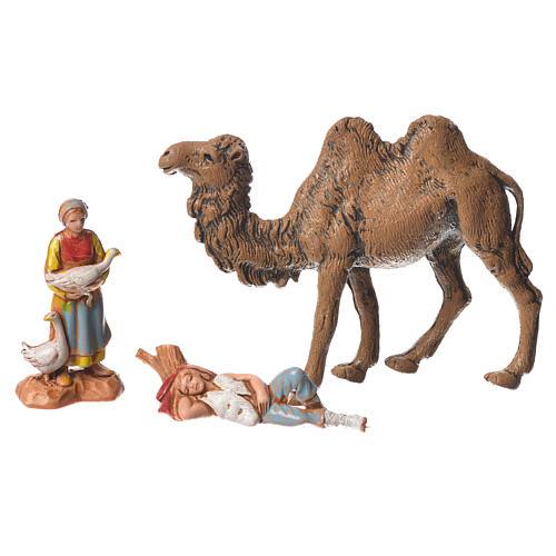 Pastori e cammello 22 pz da 3,5 cm presepe Moranduzzo 6