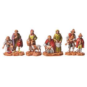 Nativity Scene shepherds and camel by Moranduzzo 3.5cm, 22 pieces s3