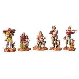 Nativity Scene shepherds and camel by Moranduzzo 3.5cm, 22 pieces s5