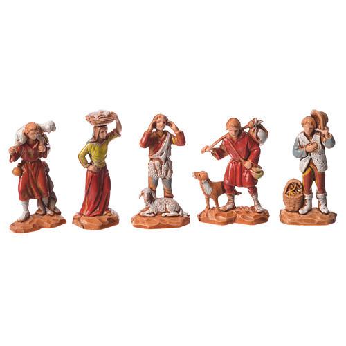 Nativity Scene shepherds and camel by Moranduzzo 3.5cm, 22 pieces 2