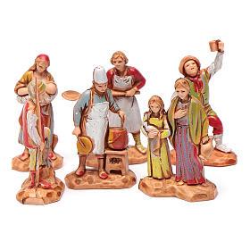 Personnages crèche Moranduzzo 3,5cm, lot de 6 santons s1