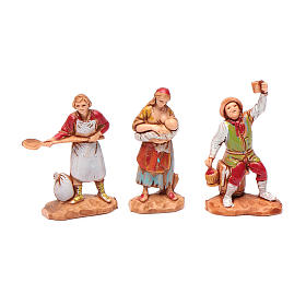 Personnages crèche Moranduzzo 3,5cm, lot de 6 santons s3