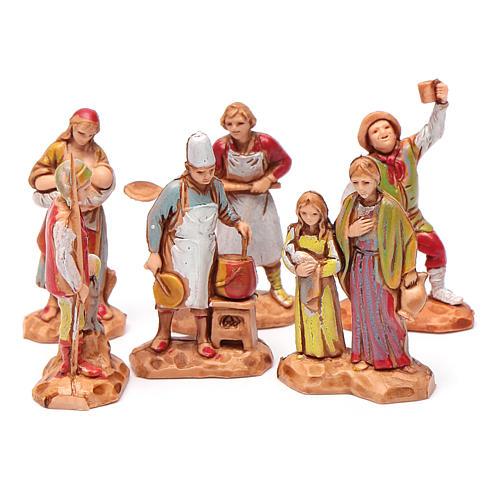 Personnages crèche Moranduzzo 3,5cm, lot de 6 santons 1