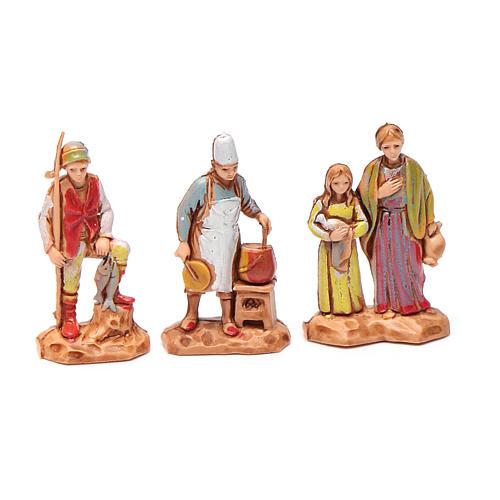 Personnages crèche Moranduzzo 3,5cm, lot de 6 santons 2
