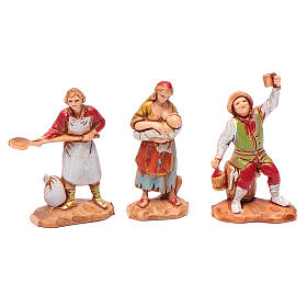 Personaggi 6 pz Presepe 3,5 cm Moranduzzo s3