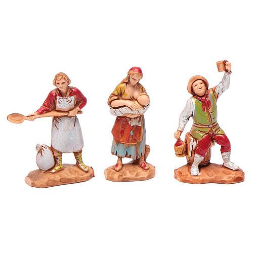 Personaggi 6 pz Presepe 3,5 cm Moranduzzo 3