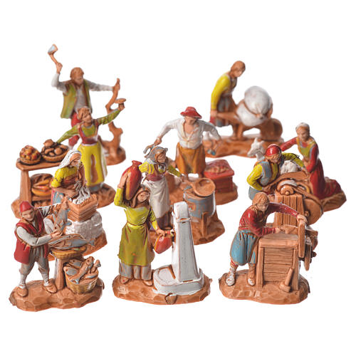 Arts and trades, 11 nativity figurines, 3.5cm Moranduzzo 1