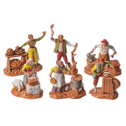 Arts and trades, 11 nativity figurines, 3.5cm Moranduzzo 2