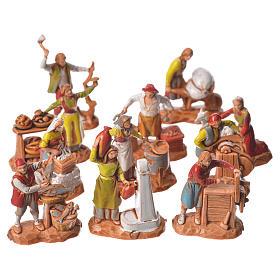 Arts and trades, 11 nativity figurines, 3.5cm Moranduzzo s1