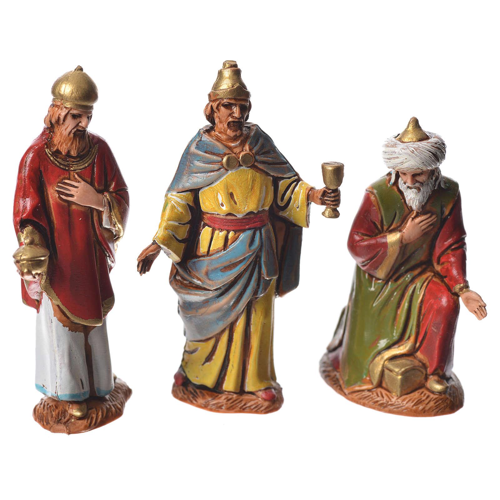 Reyes Magos, estilo árabe, para Belén de Moranduzzo con estatuas de 6,5 cm 4