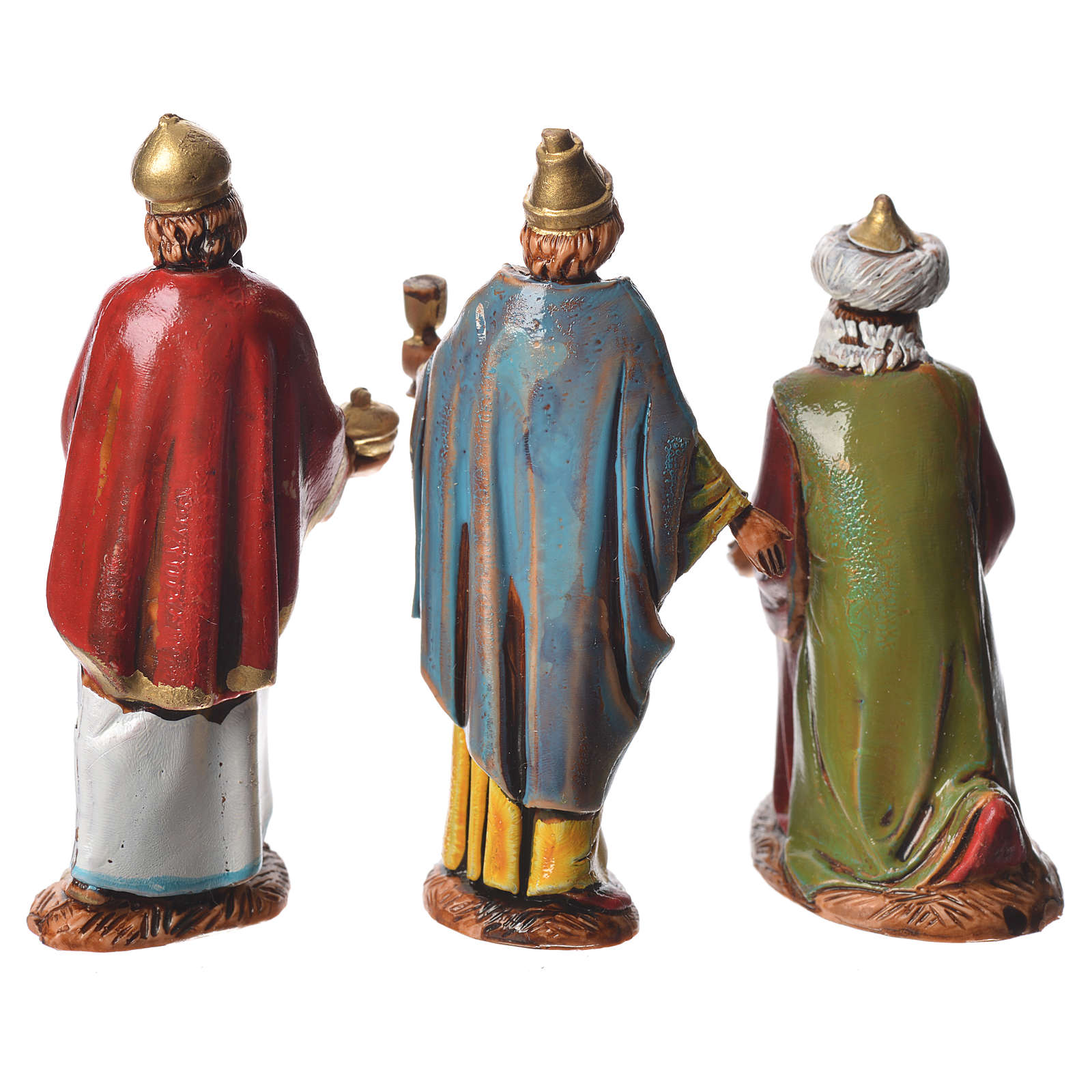 Re Magi stile arabo presepe 6,5 cm Moranduzzo 4