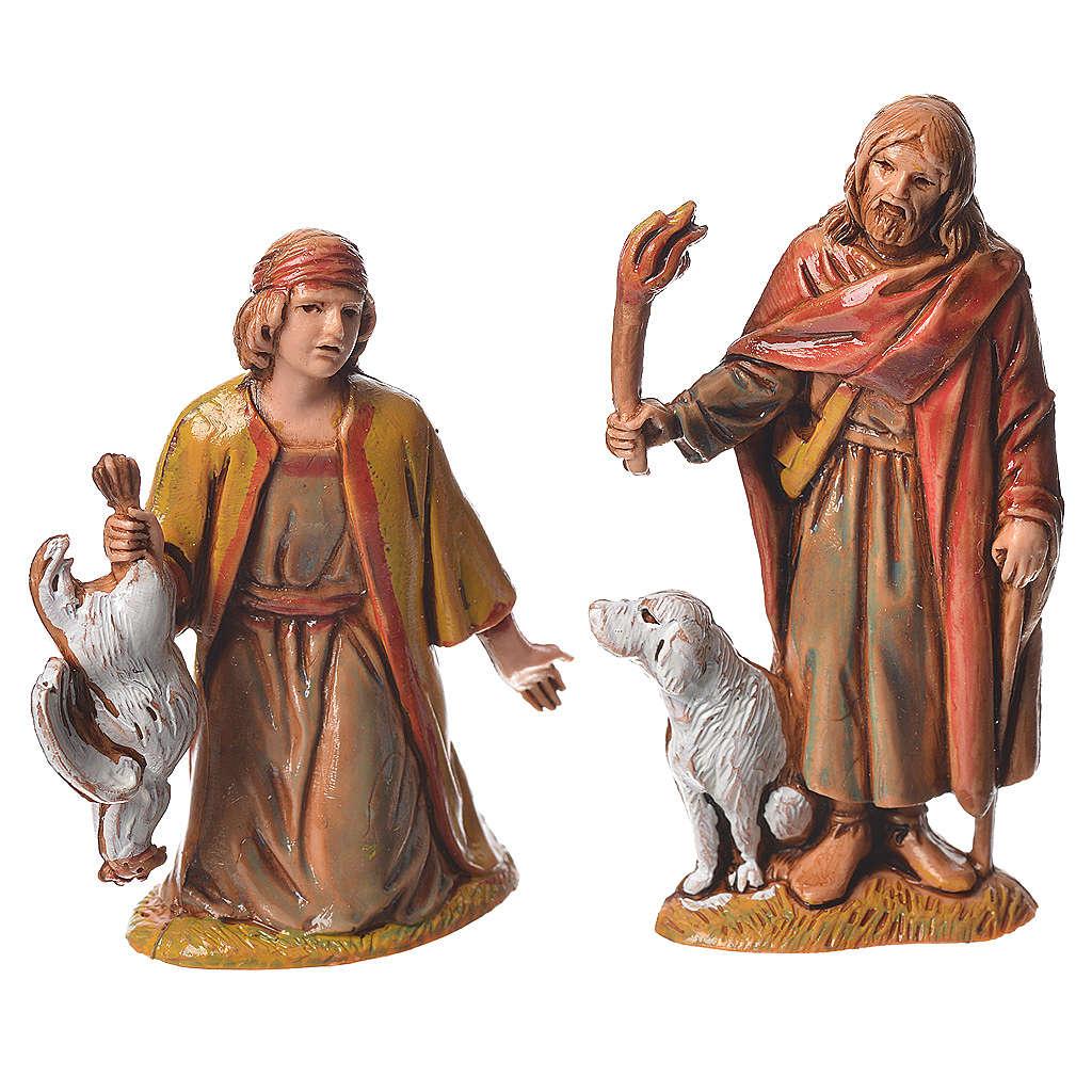 Pastores, 10 sujetos, para belén de Moranduzzo con estatuas de 6,5 cm 4