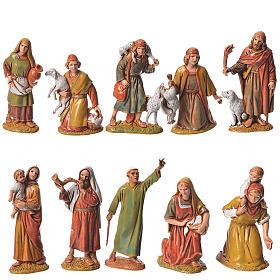 Pastores, 10 sujetos, para belén de Moranduzzo con estatuas de 6,5 cm s1