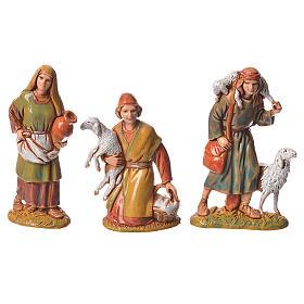 Pastores, 10 sujetos, para belén de Moranduzzo con estatuas de 6,5 cm s2