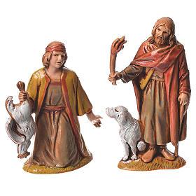 Pastores, 10 sujetos, para belén de Moranduzzo con estatuas de 6,5 cm s4