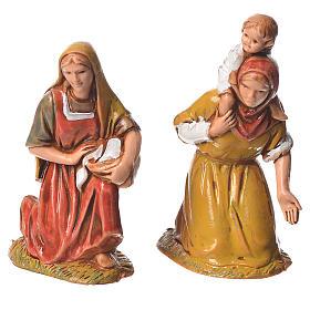 Pastores, 10 sujetos, para belén de Moranduzzo con estatuas de 6,5 cm s5