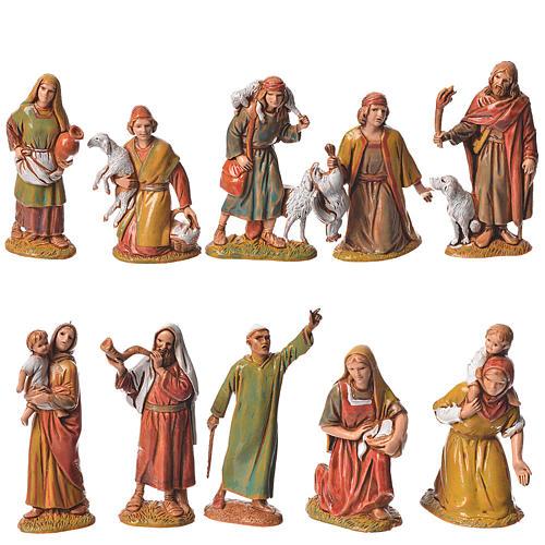 Pastores, 10 sujetos, para belén de Moranduzzo con estatuas de 6,5 cm 1