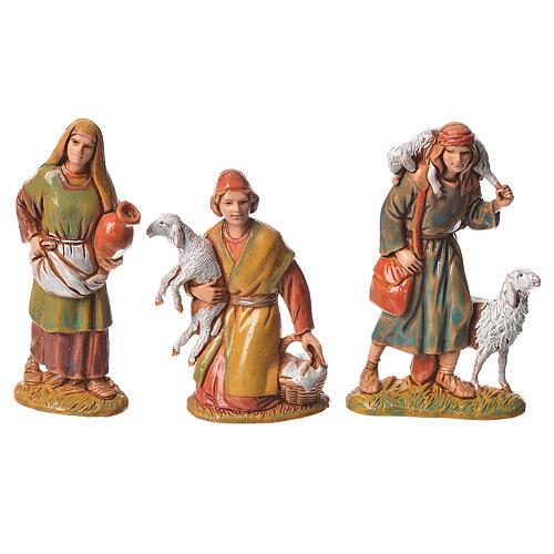 Pastores, 10 sujetos, para belén de Moranduzzo con estatuas de 6,5 cm 2