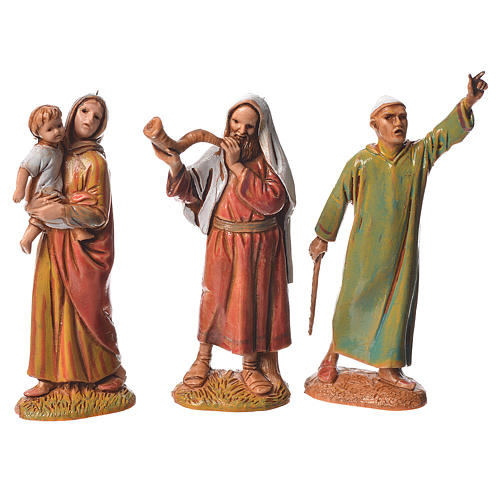 Pastores, 10 sujetos, para belén de Moranduzzo con estatuas de 6,5 cm 3