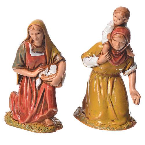 Pastores, 10 sujetos, para belén de Moranduzzo con estatuas de 6,5 cm 5