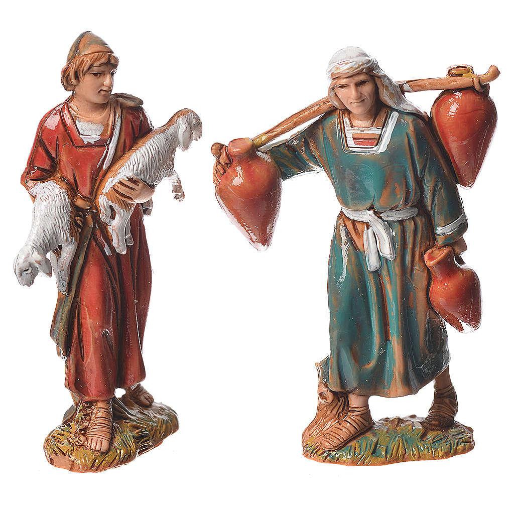 Pastores, 10 pdz, para belén de Moranduzzo con estatuas de 6,5 cm 4