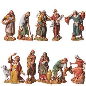 Pastores, 10 pdz, para belén de Moranduzzo con estatuas de 6,5 cm s1