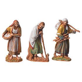Pastores, 10 pdz, para belén de Moranduzzo con estatuas de 6,5 cm s2