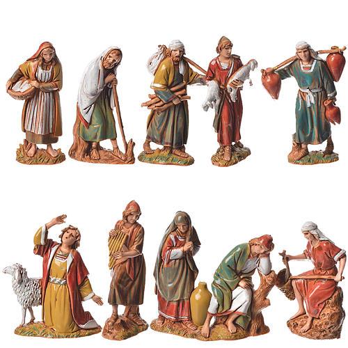 Pastores, 10 pdz, para belén de Moranduzzo con estatuas de 6,5 cm 1