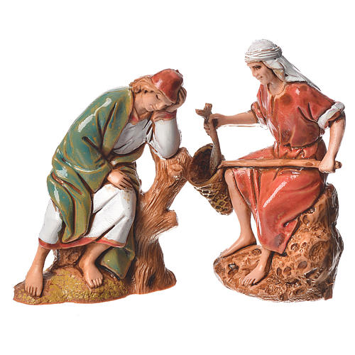 Pastores, 10 pdz, para belén de Moranduzzo con estatuas de 6,5 cm 5