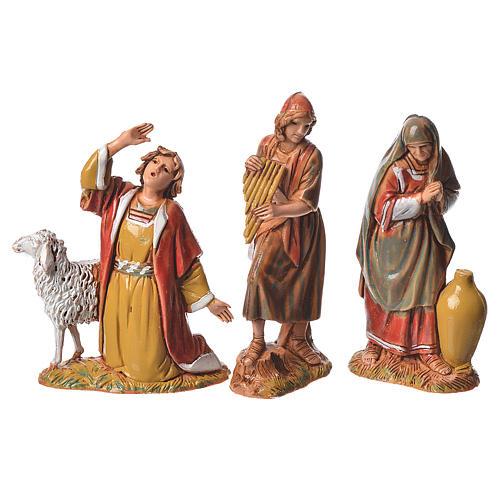 Nativity Scene shepherds figurines by Moranduzzo 6.5cm 3