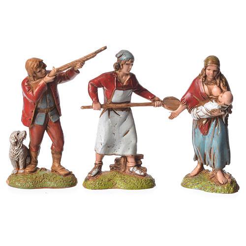 Pastores estilo Napolitano 6 cm Moranduzzo 6 figuras 2