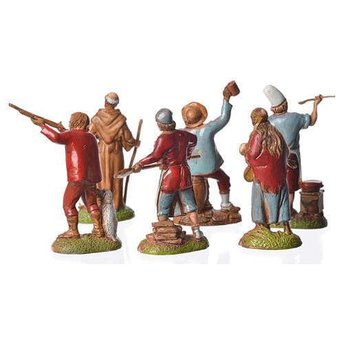 Pastores estilo Napolitano 6 cm Moranduzzo 6 figuras 3
