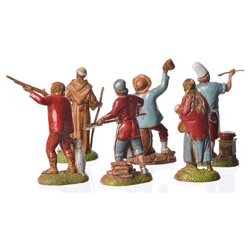 Neapolitan style shepherds, 6 nativity figurines, 6cm Moranduzzo 3