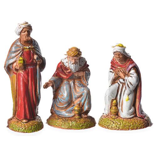 Wise men, 3 nativity figurines, 6cm Moranduzzo 1