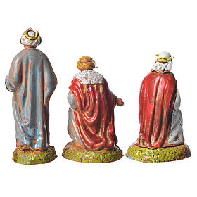 Wise men, 3 nativity figurines, 6cm Moranduzzo s2